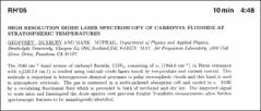 Thumbnail of HIGH RESOLUTION DIODE LASER SPECTROSCOPY OF CARBONYL FLUORIDE AT STRATOSPHERIC TEMPERATURES