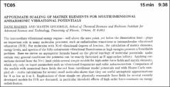 Thumbnail of APPOXIMATE SCALING OF MATRIX ELEMENTS FOR MULTIDIMENSIONAL ANHARMONIC VIBRATIONAL POTENTIALS
