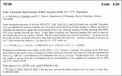 Thumbnail of LASER ABSORPTION SPECTROSCOPY OF LaF: ANALYSIS OF THE $B^{1}\Sigma^{+}$ TRANSITION
