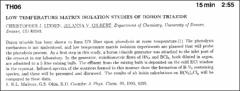 Thumbnail of LOW TEMPERATURE MATRIX ISOLATION STUDIES OF BORON TRIAZIDE