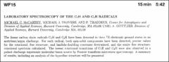 Thumbnail of LABORATORY SPECTROSCOPY OF THE $C_{7}H$ AND $C_{2}H$ RADICALS