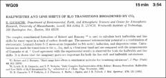 Thumbnail of HALFWIDTHS AND LINE SHIFTS OF $H_{2}O$ TRANSITIONS BROADENED BY $CO_{2}$