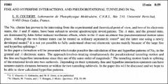 Thumbnail of FINE AND HYPERFINE INTERACTIONS, AND PSEUDOROTATIONAL TUNNELING IN $Na_{3}$