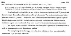 Thumbnail of SPECTROSCOPY AND PREDISSOCIATION DYNAMICS OF THE $Li_{2}F^{1}\Sigma_{g}^{+}$ STATE
