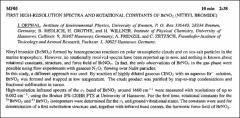 Thumbnail of FIRST HIGH-RESOLUTION SPECTRA AND ROTATIONAL CONSTANTS OF $BrNO_{2}$ (NITRYL-BROMIDE)