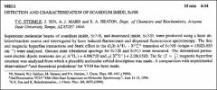 Thumbnail of DETECTION AND CHARACTERIZATION OF SCANDIUM IMIDE, ScNH