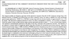 Thumbnail of CHARACTERIZATION OF THE COHERENT MICROWAVE EMISSION FROM THE SURF II ELECTRON STORAGE RING