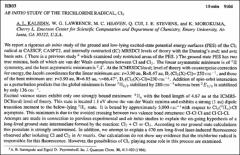 Thumbnail of AB INITIO STUDY OF THE TRICHLORINE RADICAL, $Cl_{3}$