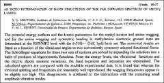 Thumbnail of AB INITIO DETERMINATION OF BAND STRUCTURES OF THE FAR INFRARED SPECTRUM OF METHYLAMINE