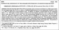 Thumbnail of TEMPERATURE DEPENDENCE OF THE INFRARED SPECTROSCOPY OF OZONE IN SOLID $OXYGEN^{a}$