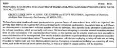 Thumbnail of PREDICTING SUCCESSFUL FTIR ANALYSES OF MATRIX-ISOLATED, MASS-SELECTED IONS USING AB INITIO CALCULATIONS