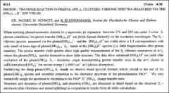 Thumbnail of PROTON-TRANSFER REACTION IN PHENOL-(NH$3) n$ CLUSTERS: VIBRONIC SPECTRA MEASURED VIA THE $(NH_{3})_{1-1}H^{+}$ ION YIELDS