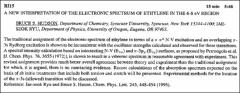 Thumbnail of A NEW INTERPRETATION OF THE ELECTRONIC SPECTRUM OF ETHYLENE IN THE 6-8 ev REGION