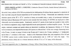 Thumbnail of SPECTROSCOPIC STUDIES OF THE $\tilde{B}^{2} A''-\tilde{X}^{2}A'$ SYSTEM OF THE JET-COOLED VINOXY $RADICAL^{*}$