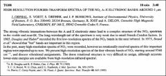 Thumbnail of HIGH-RESOLUTION FOURIER-TRANFORM SPECTRA OF THE $NO_{2}$ A-X ELECTRONIC BANDS AROUND 1 $\mu$M