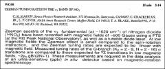 Thumbnail of ZEEMAN TUNING RATES IN THE $\nu_{3}$ BAND OF $NO_{2}$