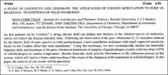 Thumbnail of A STUDY OF LINEWIDTH AND LINESHAPE: THE APPLICATION OF CONDON MODULATION TO PURE VIBRATIONAL TRANSITIONS OF SOLID HYDROGEN