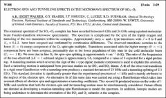 Thumbnail of ELECTRON-SPIN AND TUNNELING EFFUCTS IN THE MICROWAVE SPECTRUM OF $SO_{2}-O_{2}$