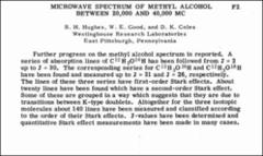 Thumbnail of MICROWAVE SPECTRUM OF METHYL ALCOHOL BETWEEN 20,000 AND 40,000 MC