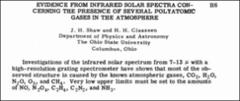Thumbnail of EVIDENCE FROM INFRARED SOLAR SPECTRA CONCERNING THE PRESENCE OF SEVERAL POLYATOMIC GASES IN THE ATMOSPHERE