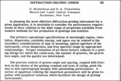 Thumbnail of DIFFRACTION-GRATING DESIGN