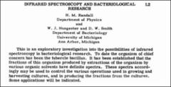 Thumbnail of INFRARED SPECTROSCOPY AND BACTERIOLOGICAL RESEARCH