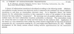 Thumbnail of A THEORY OF RADIATIONLESS TRANSITIONS