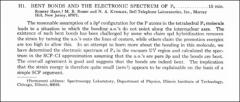 Thumbnail of BENT BONDS AND THE ELECTRONIC SPECTRUM OF $P_{4}$