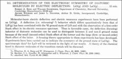 Thumbnail of DETERMINATION OF THE ELECTRONIC SYMMETRY OF DIATOMIC MOLECULES BY ELECTRIC DEFLECTION: LiO(g) AND LaO(g)