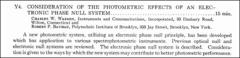Thumbnail of CONSIDERATION OF THE PHOTOMETRIC EFFECTS OF AN ELECTRONIC PHASE NULL SYSTEM