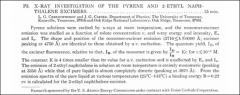 Thumbnail of X-RAY INVESTIGATION OF THE PYRENE AND 2-ETHYL NAPHTHALENE EXCIMERS.