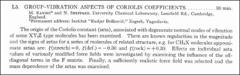 Thumbnail of GROUP-VIBRATION ASPECTS OF CORIOLIS COEFFICIENTS.