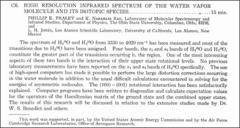 Thumbnail of HIGH RESOLUTION INFRARED SPECTRUM OF THE WATER VAPOR MOLECULE AND ITS ISOTOPIC SPECIES.