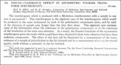 Thumbnail of PSEUDO-COHERENCE EFFECT IN ASYMMETRIC FOURIER TRANSFORM SPECTROSCOPY