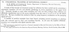 Thumbnail of COLLISIONAL TRANSFER OF ROTATIONAL ENERGY