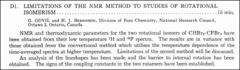 Thumbnail of LIMITATIONS OF THE NMR METHOD TO STUDIES OF ROTATIONAL ISOMERISM.