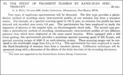 Thumbnail of THE STUDY OF TRANSIENT PLASMAS BY RAPID-SCAN SPECTROSCOPY.