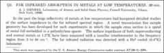 Thumbnail of FAR INFRARED ABSORPTION IN METALS AT LOW TEMPERATURES.