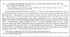 Thumbnail of A DOUBLE-MINIMUM POTENTIAL IN THE EXCITED STATE OF THE $2491 {\AA}$ BAND SYSTEM OF $NO_{2}$.