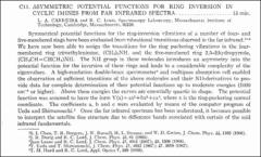 Thumbnail of ASYMMETRIC POTENTIAL FUNCTIONS FOR RING INVERSION IN CYCLIC IMINES FROM FAR INFRARED SPECTRA