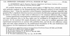 Thumbnail of IMPROVED INFRARED OPTICAL INDICES OF MgO.