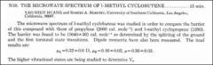 Thumbnail of THE MICROWAVE SPECTRUM OF 1-METHYL CYCLOBUTENE.
