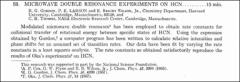 Thumbnail of MICROWAVE DOUBLE RESONANCE EXPERIMENTS ON HCN