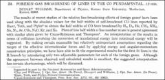 Thumbnail of FOREIGN-GAS BROADENING OF LINES IN THE CO FUNDAMENTAL