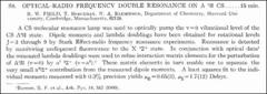 Thumbnail of OPTICAL-RADIO FREQUENCY DOUBLE RESONANCE ON $A {^{1}}II$ CS.