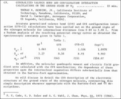 Thumbnail of GENERALIZED VALENCE BOND AND CONFIGURATION INTERACTION CALCULATIONS ON THE GROUND STATE OF $N_{2}$