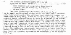 Thumbnail of THE INFRARED ABSORPTION SPECTRA OF $O_{2}-Ar$ AND $N_{2}-Ar$ VAN DER WAALS' MOLECULES