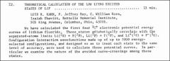 Thumbnail of THEORETICAL CALCULATION OF THE LOW LYING EXCITED STATES OF LiF