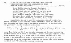 Thumbnail of AB INITIO CALCULATION OF VIBRATIONAL PROJERTLES FOR POLYATOMIC MOLECULES WITH APPLICATION TO WATER NEAR THE HARTREE-FOCK LIMIT
