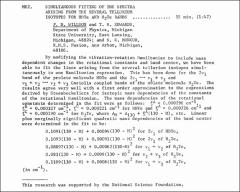 Thumbnail of SIMULTANEOUS FITTING OF THE SPECTRA ARISING FROM THE SEVERAL TELLURIUM ISOTOPES FOR HDTe AND $H_{2}$Te BANDS